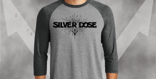 Silver Dose Mens Perfect Tri 3/4 Raglan Jersey