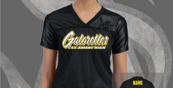 Gatorettes Black Ladies Replica Jersey