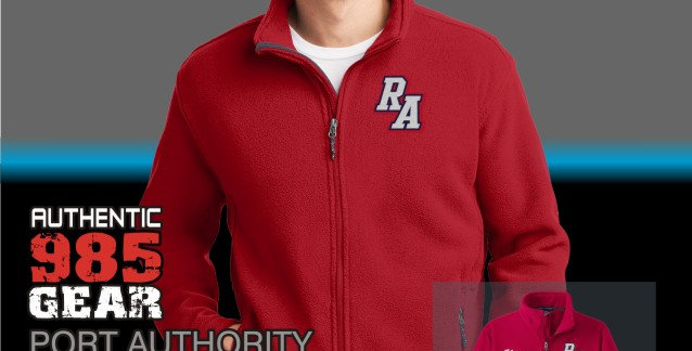 Riverside Mens Red Fleece Jacket