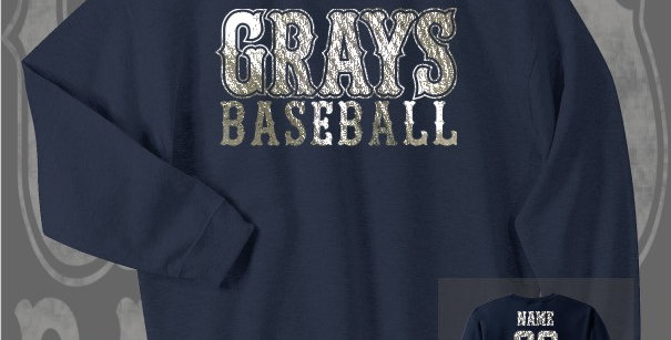 Gray's Baseball Foil Navy Crewneck Sweat
