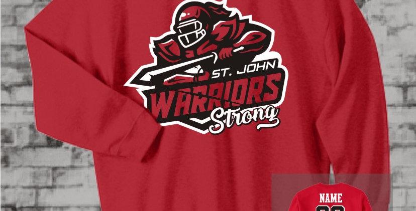 Warriors Strong Red Crew Sweatshirt