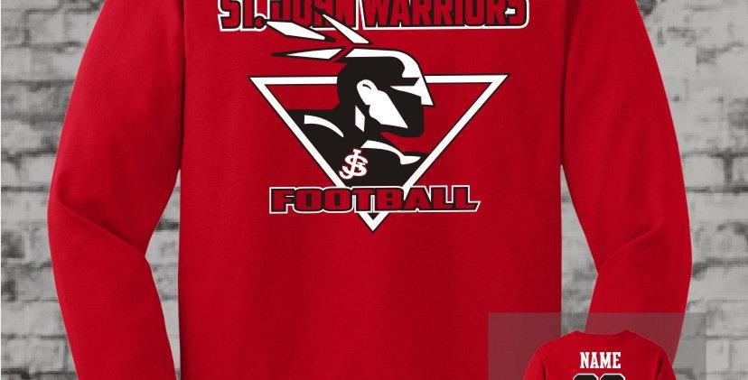 Warriors Red Long Sleeve T-Shirt