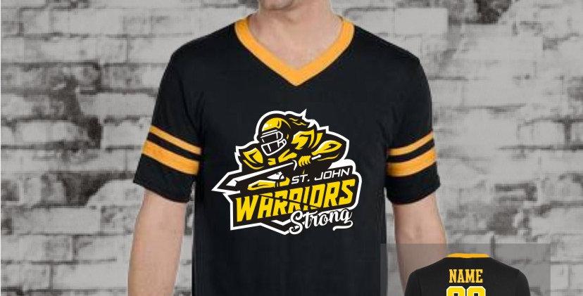 Warriors Stripe Sleeve Jersey (Gold Team)