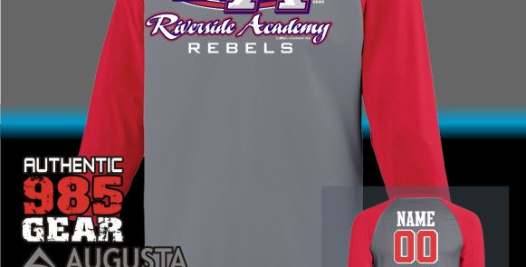 """Riverside """"RA Strong"""" Dry-Fit Nova Graphite/Red Jersey"""