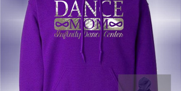 Infinity Dance Mom Foil Purple Hoodie