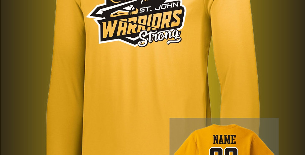 Warriors Strong Gold Long Sleeve Dry-Fit T-Shirt
