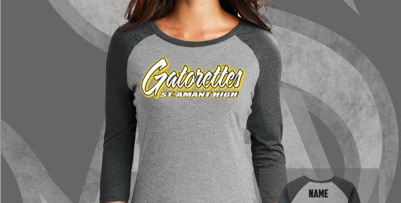 Gatorette Ladies Perfect Tri 3/4 Raglan Jersey