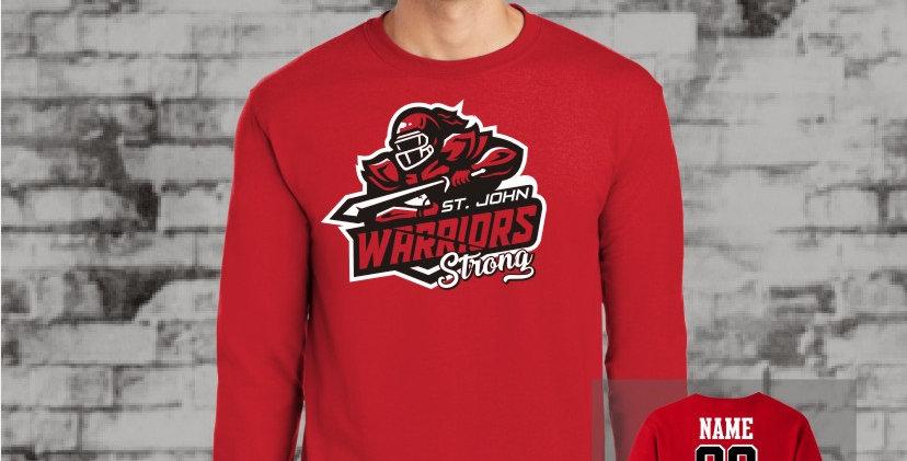 Warriors Strong Longsleeve T-Shirt (Red Team)