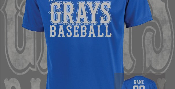 Gray's Baseball Attain Dry-Fit Royal T-Shirt