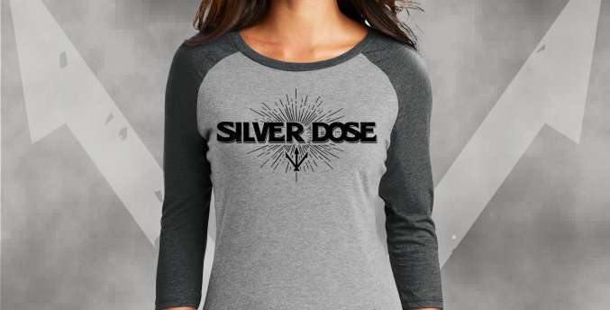 Silver Dose Ladies Perfect Tri 3/4 Raglan Jersey