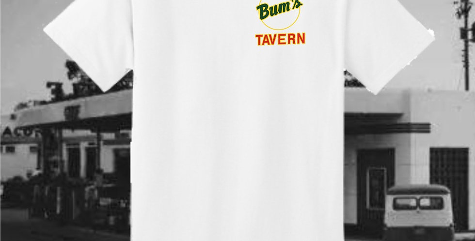 Bum's Tavern White T-Shirt