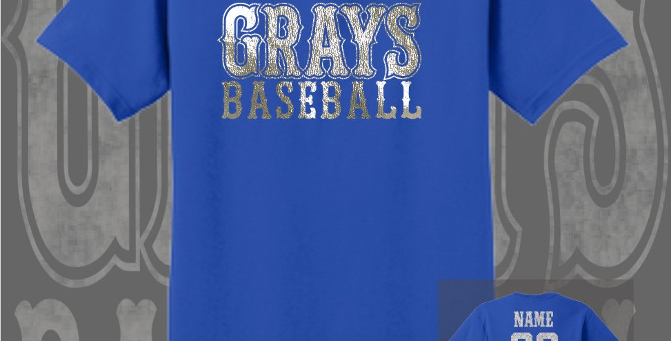 Gray's Baseball Foil Royal T-Shirt