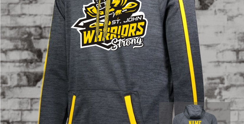 Warrior Strong Gold Stoked Tonal Hoody