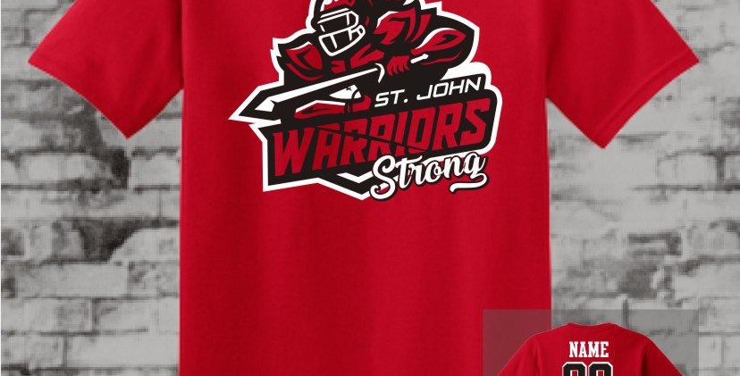 Warriors Strong Red T-Shirt