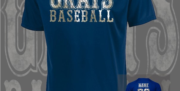 Gray's Baseball Foil Attain Dry-Fit Navy T-Shirt