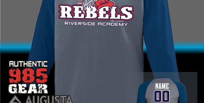 "Riverside ""General Reb"" Dry-Fit Nova Graphite/Navy Jersey"