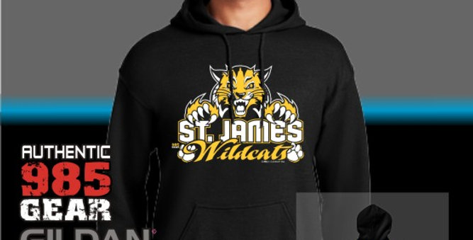 """St. James """"Cat Claws"""" Black Hoodie"""