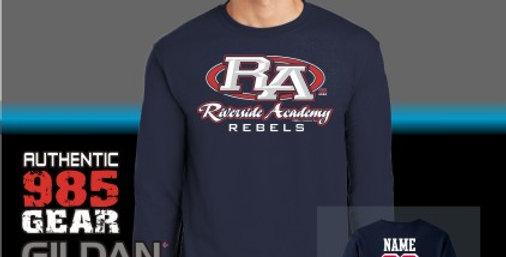 Riverside Strong Navy Long Sleeve T-Shirt