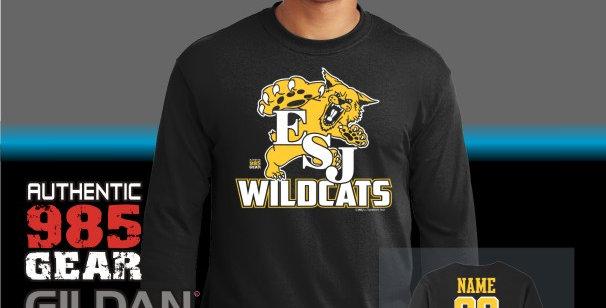 """ESJ """"Gold Grass"""" Black Longsleeve T-Shirt"""