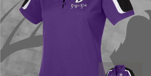 Griffin Girls Ladies Tri-Color Shoulder Sport-Wik Polo