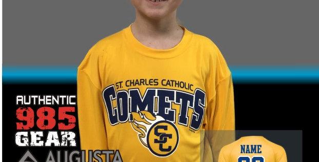 SCC Comets Gold Dry-Fit Longsleeve T-Shirt