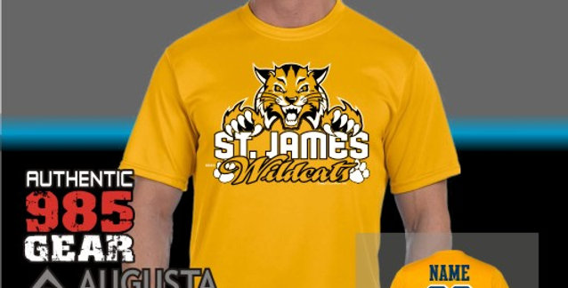 """St. James """"Cat Claws"""" Gold Dry Fit T-Shirt"""