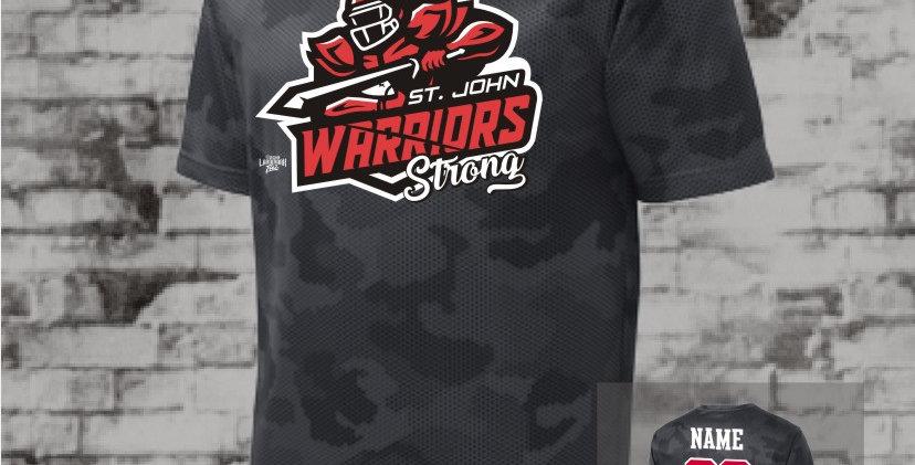 Warriors Mens Iron Grey CamoHex Tee