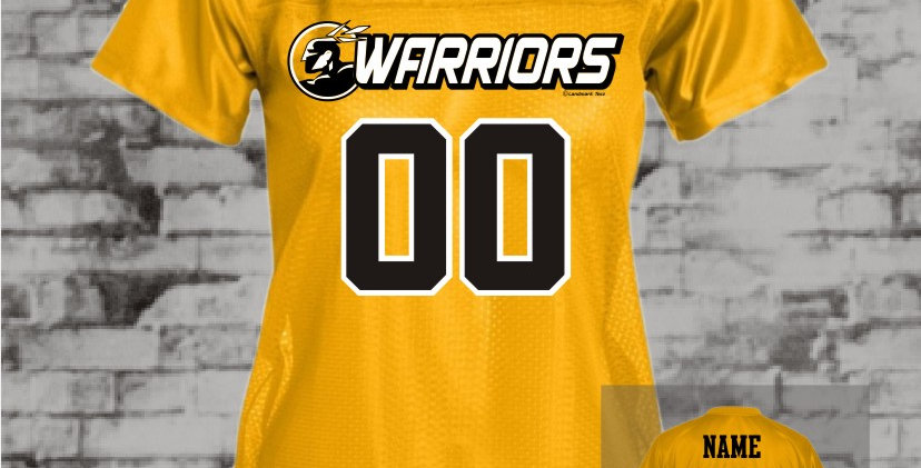 Warriors Gold Ladies Replica Jersey