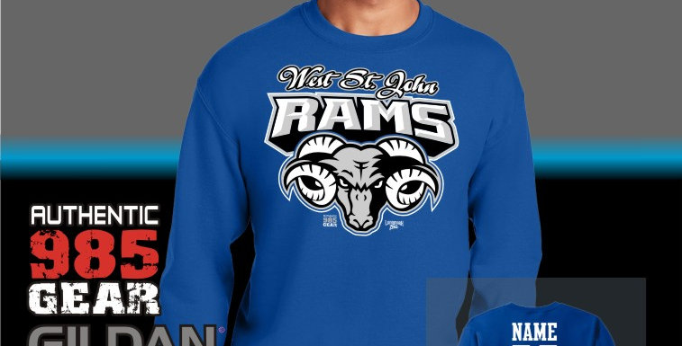 "WSJ ""Ram Tough"" Royal Crewneck Sweatshirt"