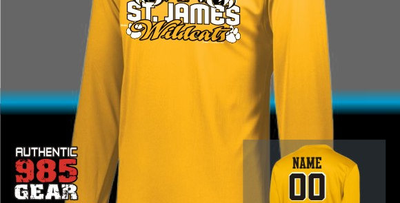 "St. James ""Cat Claws"" Gold Dry-Fit Longsleeve T-Shirt"
