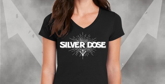 Silver Dose Ladies V-Neck Tee