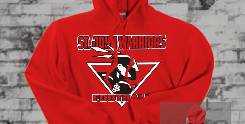 Warriors Red Hooded Sweatshirt