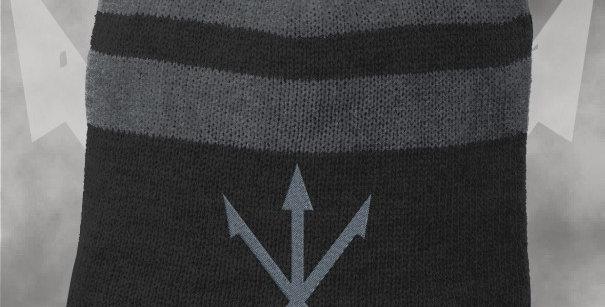Silver Dose Striped Beanie