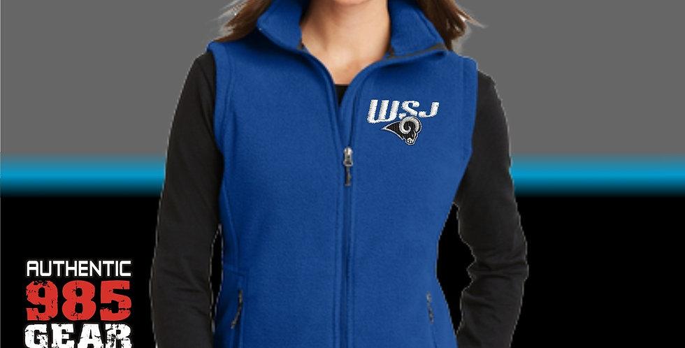 WSJ Ladies Royal Fleece Vest