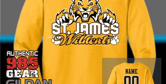 "St. James ""Cat Claws"" Gold Longsleeve T-Shirt"