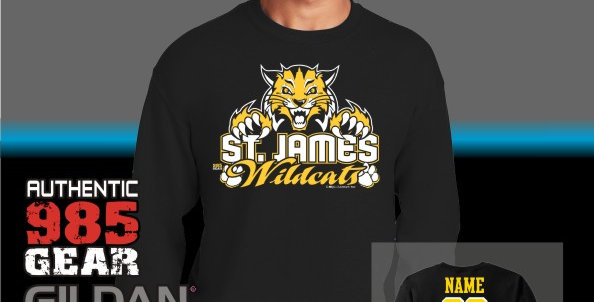 "St. James  ""Cat Claws"" Black Crew Sweatshirt"