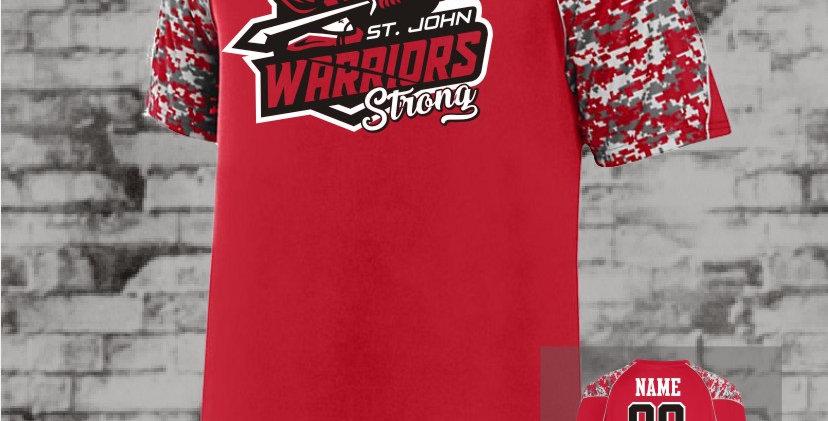 Warriors Strong Red DiGi Sleeve Jersey