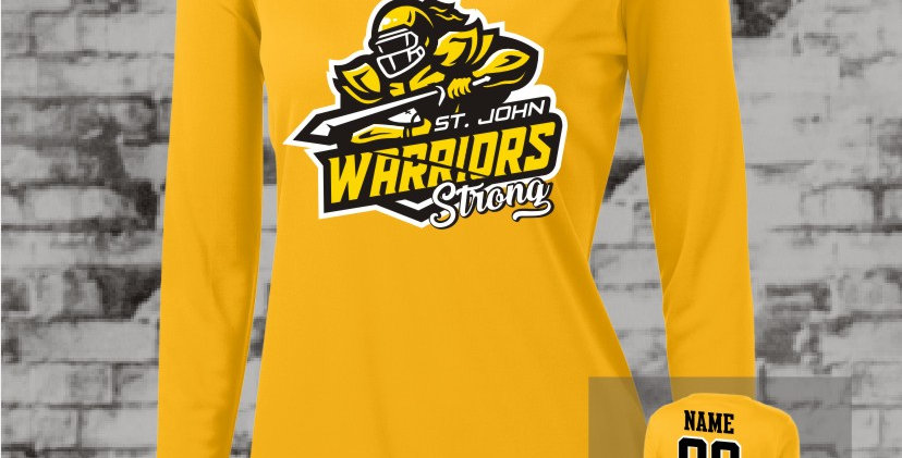 Warrior Strong Gold Longsleeve Ladies Competitor V-Neck