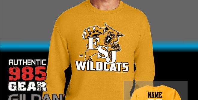 "ESJ ""Gold Grass"" Gold Crewneck Sweatshirt"