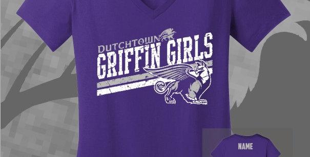 Griffin Girls Ladies Cotton V-Neck Tee