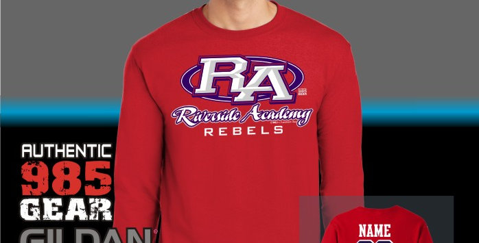 Riverside Strong Red Long Sleeve T-Shirt