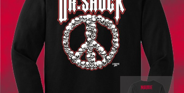"Dr. Shock ""Peace Skulls"" Cotton Longsleeve T-Shirt"