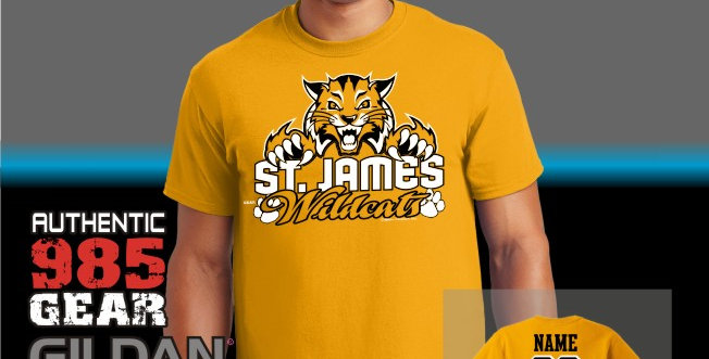 """St. James """"Cat Claws"""" Gold T-Shirt"""