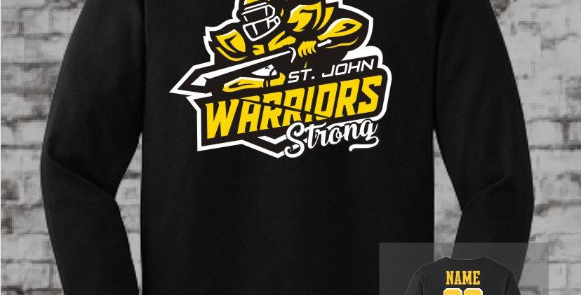 Warrior Strong Black Long Sleeve T-Shirt