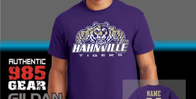 Hahnville Tigers Purple T-Shirt