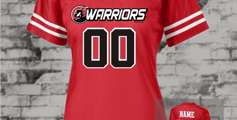 Warriors Ladies Stripe Replica Jersey