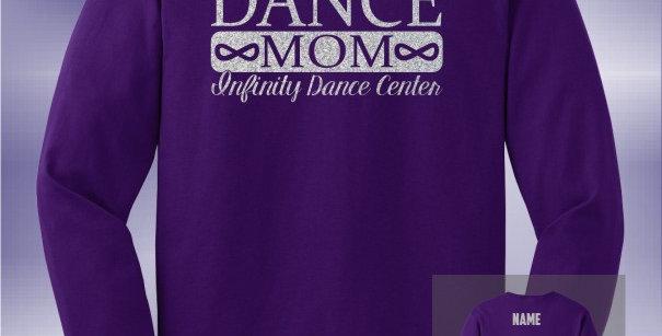 Infinity Dance Mom Glitter Longsleeve T-Shirt