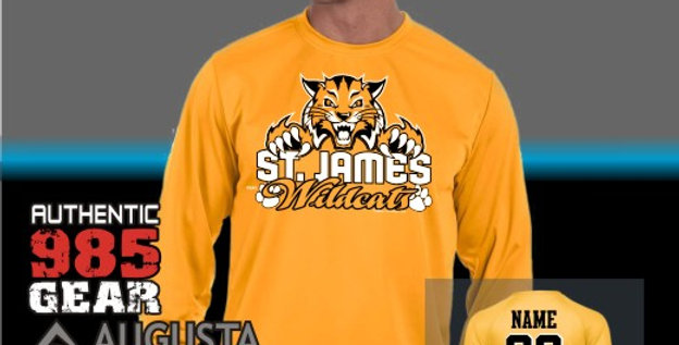 """St. James """"Cat Claws"""" Gold Dry-Fit Longsleeve T-Shirt"""