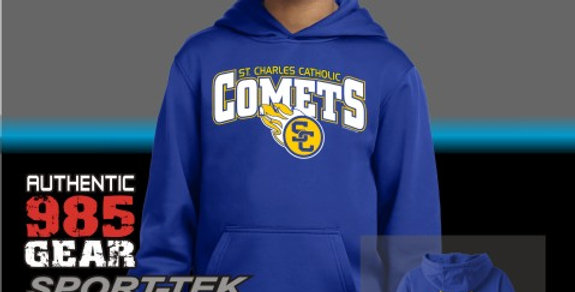 SCC Comets Dry-Fit Royal Hoodie