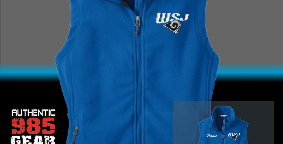WSJ Ladies Royal Fleece Vest